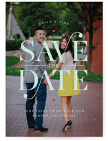 Elegant Swash Save the Date Cards