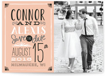 Stacked Type Save the Date Cards