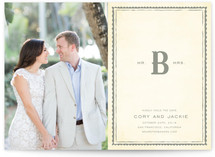 Mr + Mrs Monogram Save the Date Cards