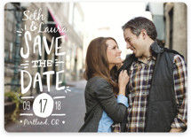 Casual Calligraphy Save the Date Cards