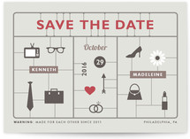 He + She in One Package Save the Date Cards