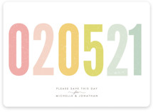 Ice Cream Parlour Pastels Save the Date Cards