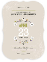 Gardenia Save the Date Cards