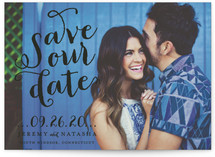 Swirly Save the Date Cards