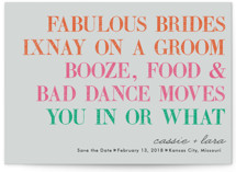 You in or What (Lesbian) Save the Date Cards