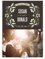 Floral Ring Save the Date Cards