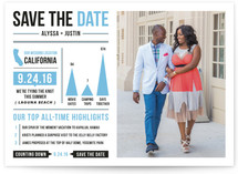 Year in a Nutshell Save the Date Cards