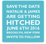 Hitched Square Save the Date Cards
