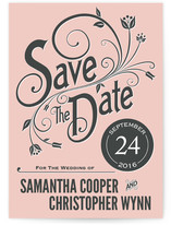 Vintage Blush Save the Date Cards