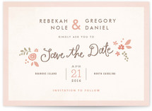Pink Blossoms Save the Date Cards