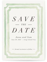 Watercolor Frame Save the Date Cards