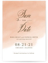 Watercolor Wash Save the Date Cards