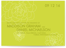 Succulent Save the Date Cards