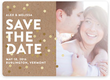 Confetti Glitz Photo Save the Date Cards