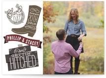 Pony Up Save the Date Cards
