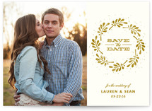 Spinning Leaves Save the Date Cards