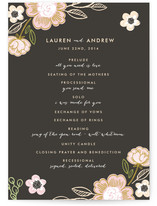 Botanical Wreath Wedding Programs
