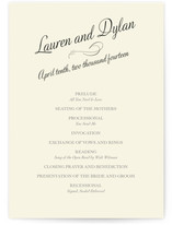 Just My Type Wedding Programs