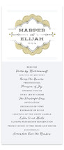 Striped Sweet Nothings Wedding Programs