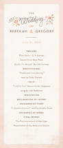 Pink Blossoms Wedding Programs
