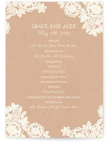 Lace and Kraft Wedding Programs