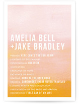 Ombre Wedding Programs