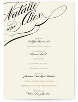 Winter Flourish Wedding Programs